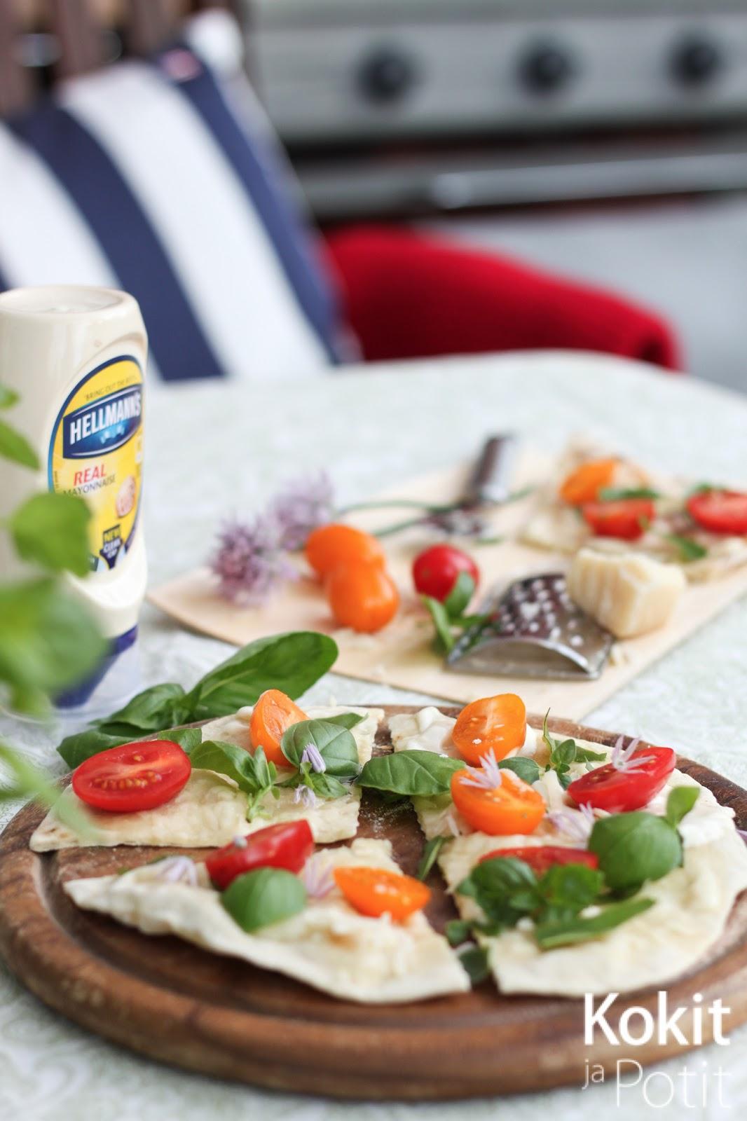 Valkoinen BBQ-kastike & grillipizza