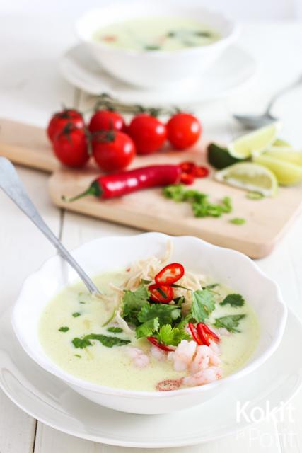 Thaimaalainen kookoskeitto –  nopea ja helppo keitto sopii arkeen ja juhlaan
