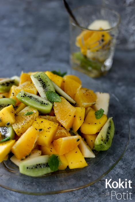 Vaniljainen hedelmäsalaatti