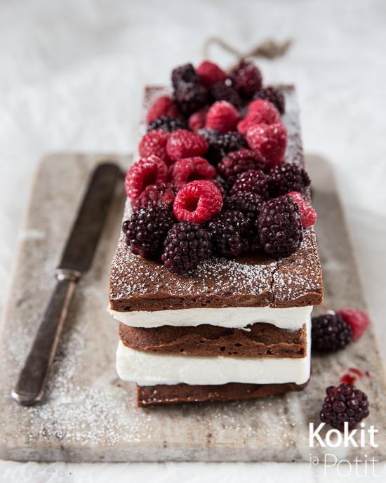 Brownie-jäätelökakku