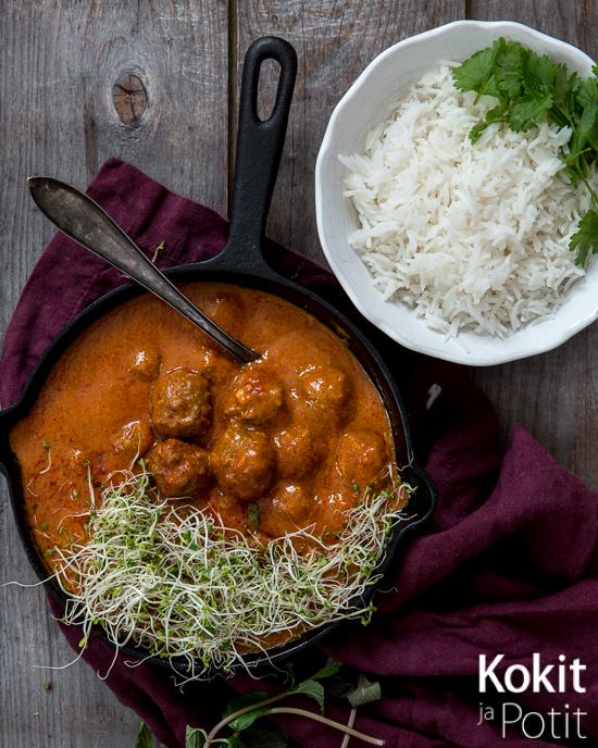 Intialainen lihapullacurry