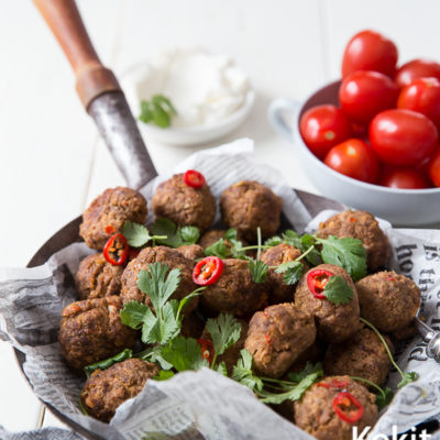 Falafel-lihapullat