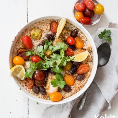 kanaa mausteisella riisipedillä