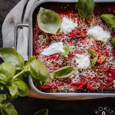 Melanzane alla parmigiana eli italialainen munakoisovuoka