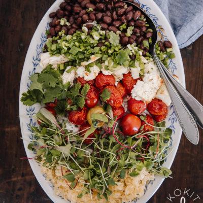 Burrito bowl – helppo arkiruoka hetkessä