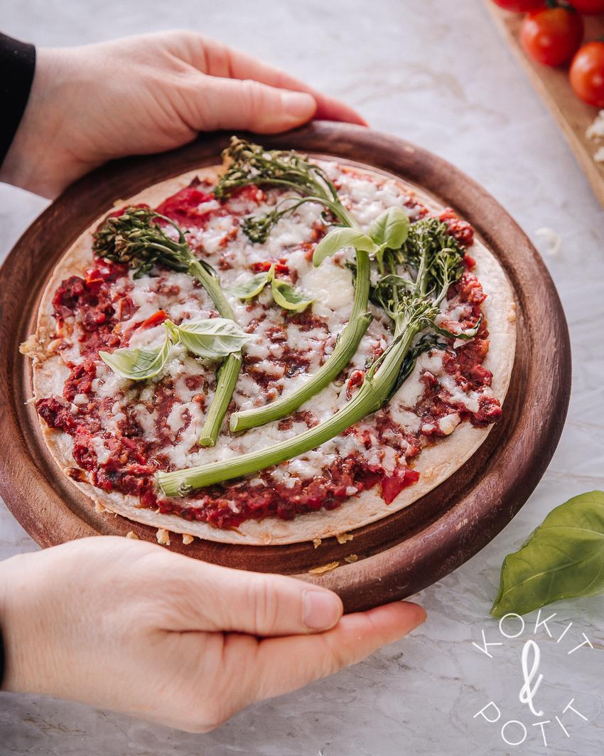 Tortillapizza 5 tapaa käyttää bolognesea