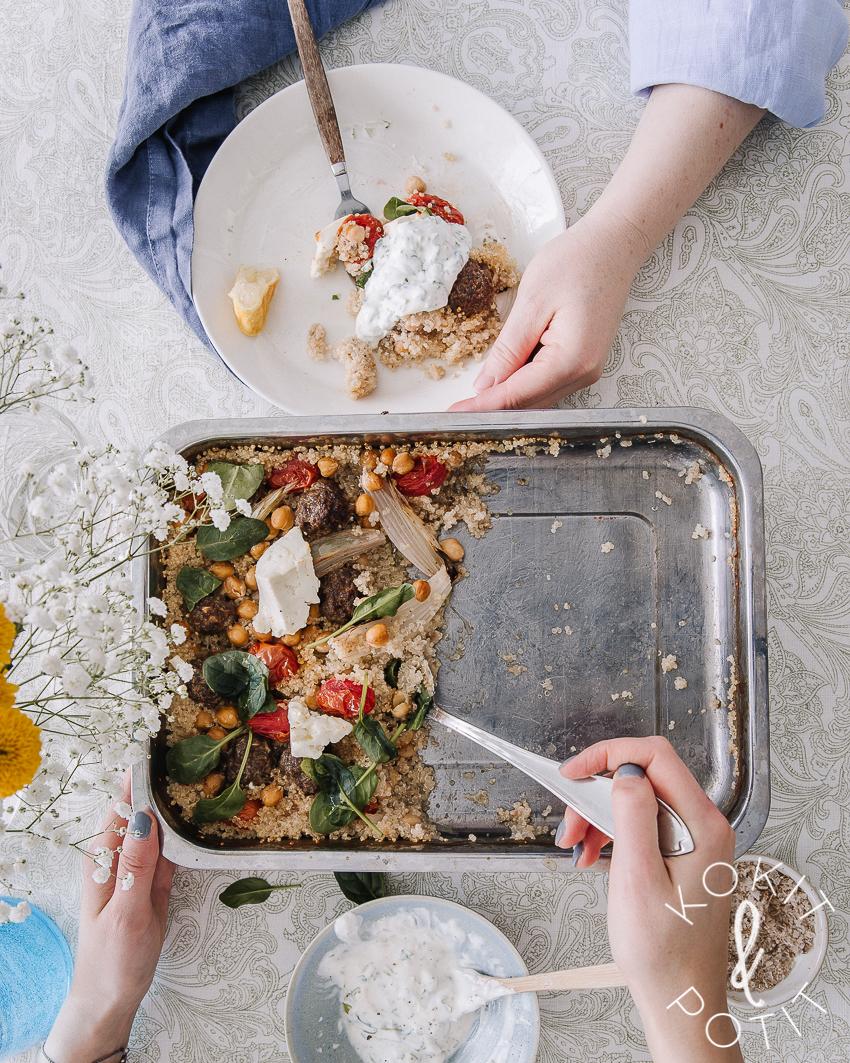Helppo one pot ruoka kvinoa uunissa