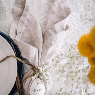 Servetin taittelu – suloinen pupu