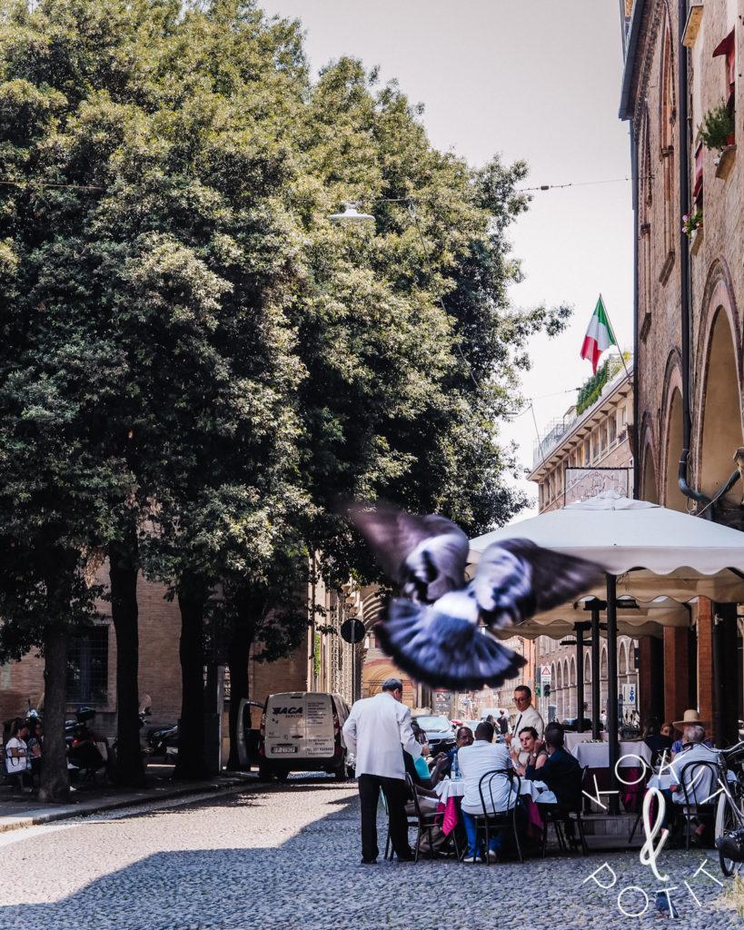 Italialainen ravintola Bolognassa